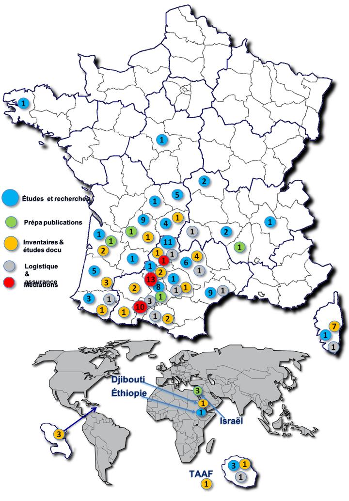 Carte des actions 2020