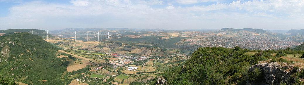 vue panoramique de Millau